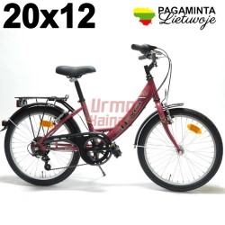 Baltik vairas, vaikiškas dviratis 20 x 12, Frozen Red